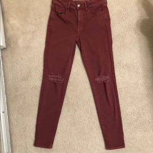 American Eagle Stretch Distressed Jeans